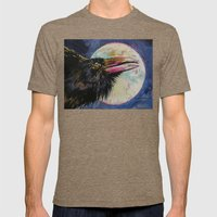 Raven Moon Mens Fitted Tee Tri-Coffee SMALL
