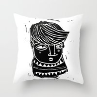 timide Throw Pillow