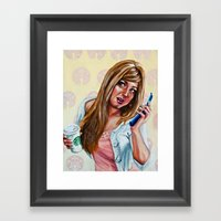 American Woman Framed Art Print