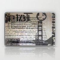Golden Gate Bridge Text Collage Laptop & iPad Skin