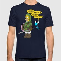 The Simpsons: Legend of Zel... er- D'OH! Mens Fitted Tee Navy SMALL