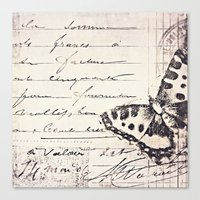 postal butterfly {b&w Canvas Print