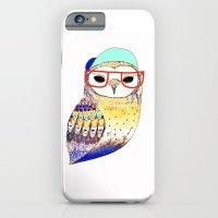 Hipster Owl, hipster, owl, owl art, illustration, print, children's, digital,  iPhone 6 Slim Case