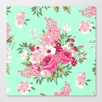 Cottage Chic Roses And L… Canvas Print