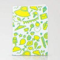 doodle brightness Stationery Cards