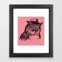 Captain Owl Framed Art Print