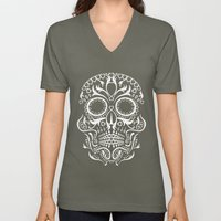 Day Of The Dead Skull Unisex V-Neck