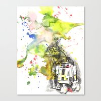 C3PO And R2D2 From Star … Canvas Print