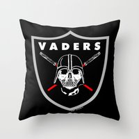 Oakland Vaders Throw Pillow