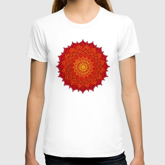 okshirahm rose mandala T-shirt