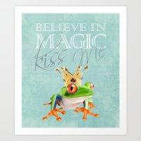 The frog prince.  Art Print