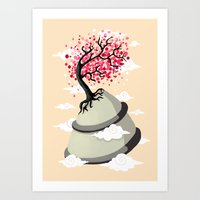 cherry blossom Art Prints featuring Cherry Blossom by Freeminds