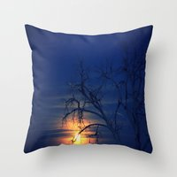 Penumbral Lunar Rising Throw Pillow