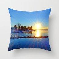 November Sun Throw Pillow