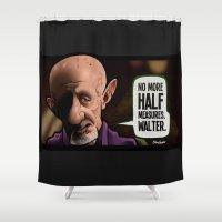 Half Measures Shower Curtain