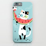 Watermelon Cat iPhone 6 Slim Case
