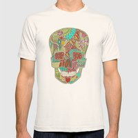 flower skull spot Mens Fitted Tee Natural SMALL