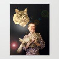 Thus Spake Fluffy Canvas Print