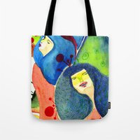 Moss and birds Tote Bag
