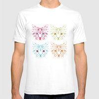 CAT FANTASY Mens Fitted Tee White SMALL