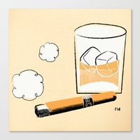 Cigar And Booze Canvas Print