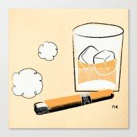 Cigar And Booze Canvas Print