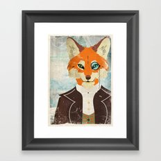 Foxy le dandy Framed Art Print