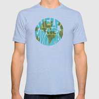 Help The Environment Mens Fitted Tee Tri-Blue SMALL