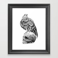 Red-Tail Skull Framed Art Print