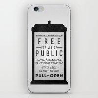 PULL to OPEN (TARDIS) iPhone & iPod Skin
