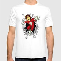 Mork From Ork Mens Fitted Tee White SMALL