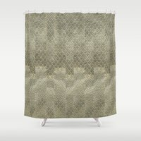 Golden embroidery Shower Curtain