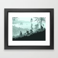 Framed Art Print featuring Never Say Die by Ape Meets Girl