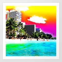 Waikiki Beach Part II Art Print