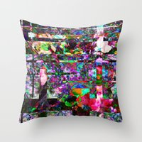 Vertical Floral Throw Pillow