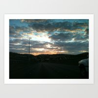 Early Morning Drive Art Print