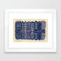Amsterdam Watercolor And Sketch Framed Art Print