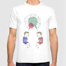 Twins Mens Fitted Tee White SMALL