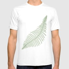 fern  Mens Fitted Tee SMALL White