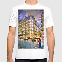 Rainy Evening In Paris, … Mens Fitted Tee White SMALL