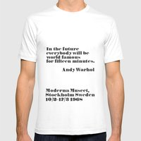 Andy Warhol Mens Fitted Tee White SMALL