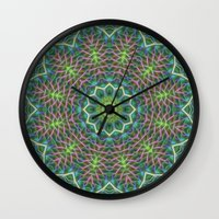 Fern Frond Lace Kaleidos… Wall Clock