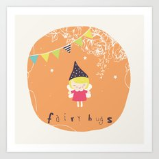 Fairy Hugs Art Print