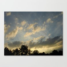 August skies falling into dark Canvas Print