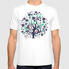 Bloomy White Mens Fitted Tee SMALL