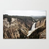 YELLOWSTONE WATERFALLSS Canvas Print