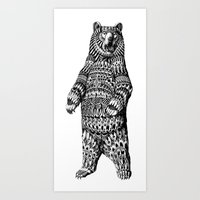 Ornate Grizzly Bear Art Print