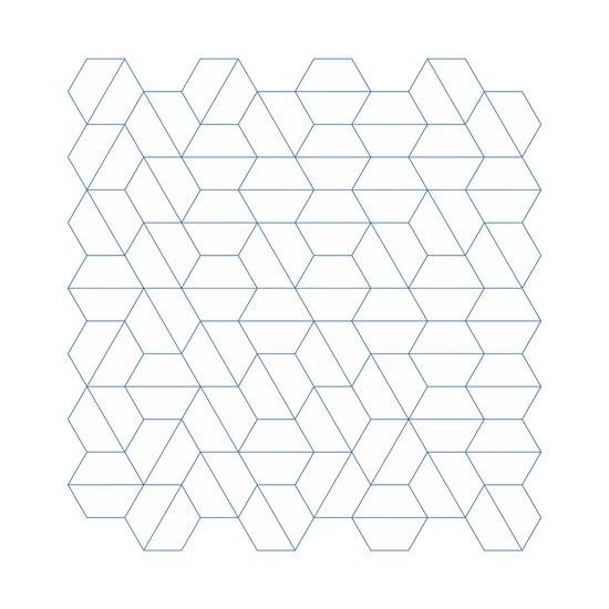 #329 Hexagon fields – Geometry Daily Canvas Print