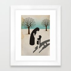 padre/figlio Framed Art Print