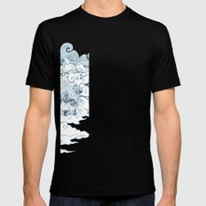 Ghost Cat SMALL Black Mens Fitted Tee